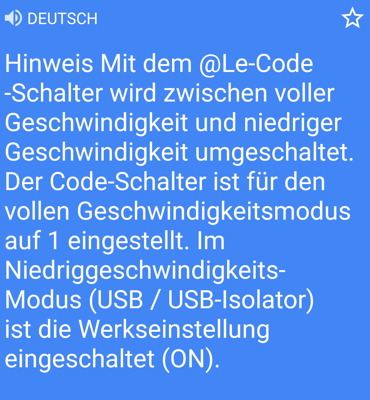 USB Isolator Manual German